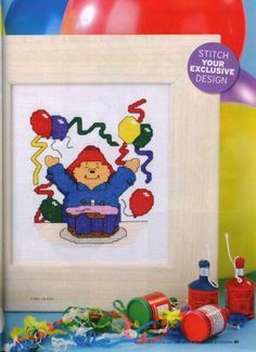 Celebrate with Paddington The World of Cross Stitching  Issue 100 August 2005 Saved