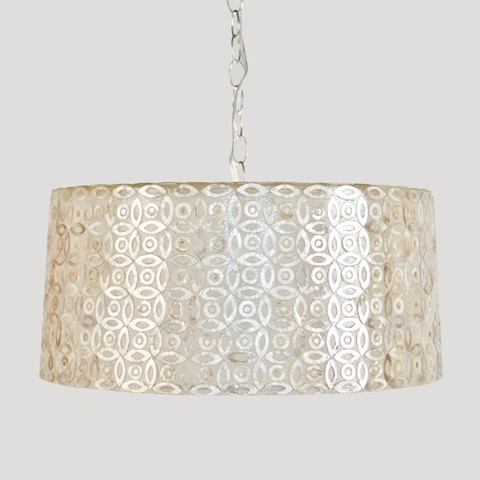 Capiz Drum Pendantpendant Chandelierlight