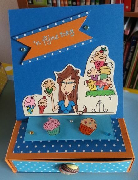 Drawer Box with Easel Card Bug a Boo stamp