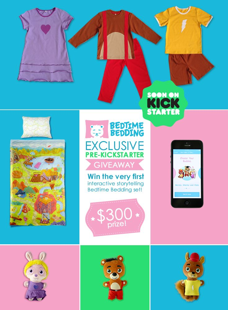 Be the First to Own the #bedtimebedding Storytelling Bedding Set for Children! Exclusive giveaway worth $300+  www.bedtimebedding.com
