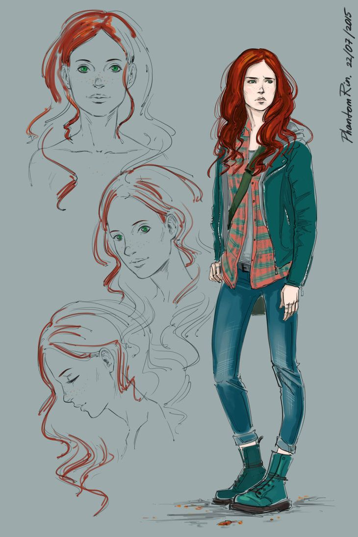 Clary Fray. Ooh. I don't know why but fanart or like drawings of Cassie's characters always seem more like the characters for me. Like when I'm picturing Jace. I sometimes picture Jamie (from movie) but most of the time I picture the Jace in Cassandra Jean's drawings (she drew the tarot cards for Cassie's books and the drawings in the Shadowhunter Codex)