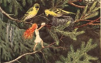 a-small-forest-elf-alva-rescuing-an-egg-from-solagget-1932-by-elsa-beskow-1.jpg 350×219 pixels