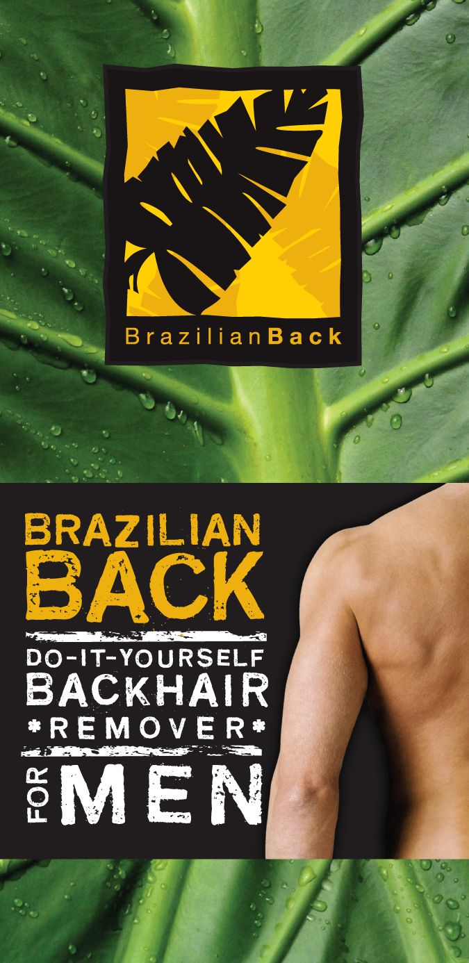 DIY Men's Back Hair Removal System. 100% private! 100% Pain Free! Literally Wash you Back Hair Away.