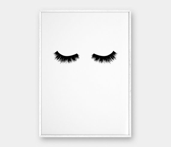Lashes Wall Art, Printable Poster, Scandinavian Poster, Affiche Scandinave…