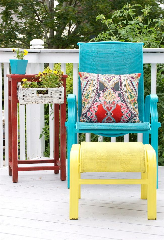 Best 25+ Painting Patio Furniture Ideas On Pinterest | Painted Outdoor  Furniture, Cable Spool Ideas And Wood Spool Furniture