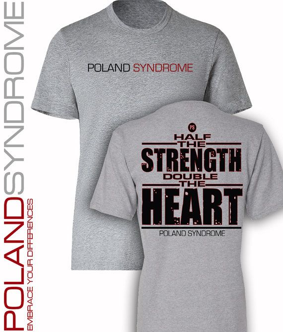 Poland Syndrome Strength Shirt 024 by PneuralDesign on Etsy, $18.00