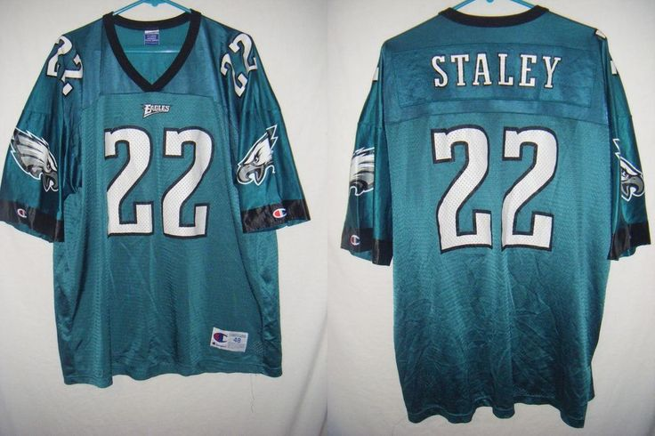 VTG PHILADELPHIA EAGLES Duce Staley men's sz 48 XL jersey Champion green #Champion #PhiladelphiaEagles