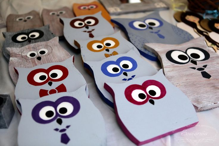 Funny wooden owls :)