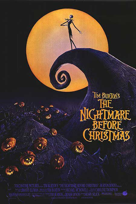 Nightmare Before Christmas Jack, Sally, Zero, and Mayor of Halloween Town and on and on. Many unique but I-knew-this-is-Tim-Burton characters grabs our heart and never let us go during playing time. gives us mixed thought about what this movie is about after we compare this to its title. This poster is from one of the scene, and  ジャックやサリー、ゼロや市長。ひと目でティムバートンの作品だとわかる魅力的なキャラクターたちが素敵です。ポスターはタイトルとは裏腹に何やら幻想的になっています。
