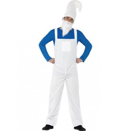 Disfraz de Pitufo Gnomo Azul Hombre