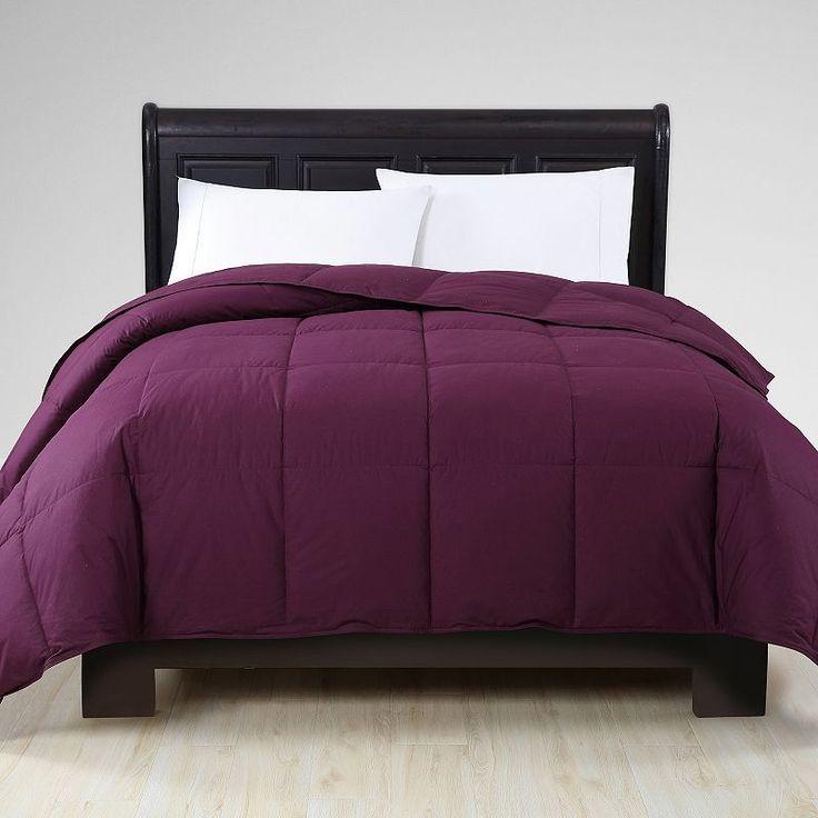 Vcny Down Comforter, Drk Purple