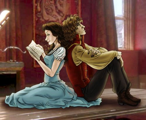The picture is a bit SPOILERIFIC... but I just like the two of them. Rumpelstiltskin And Belle. <3