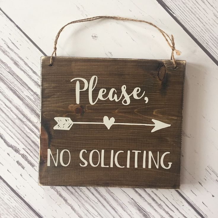 No soliciting sign Restocked and ready for same day shipping!