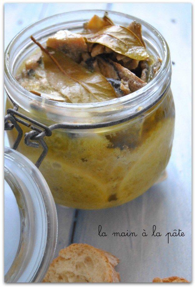 Sardines à l'huile d'olive et au citron -**