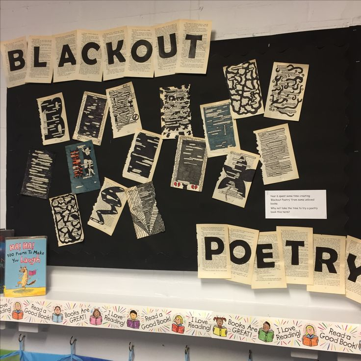 'Blackout Poetry' Library Display
