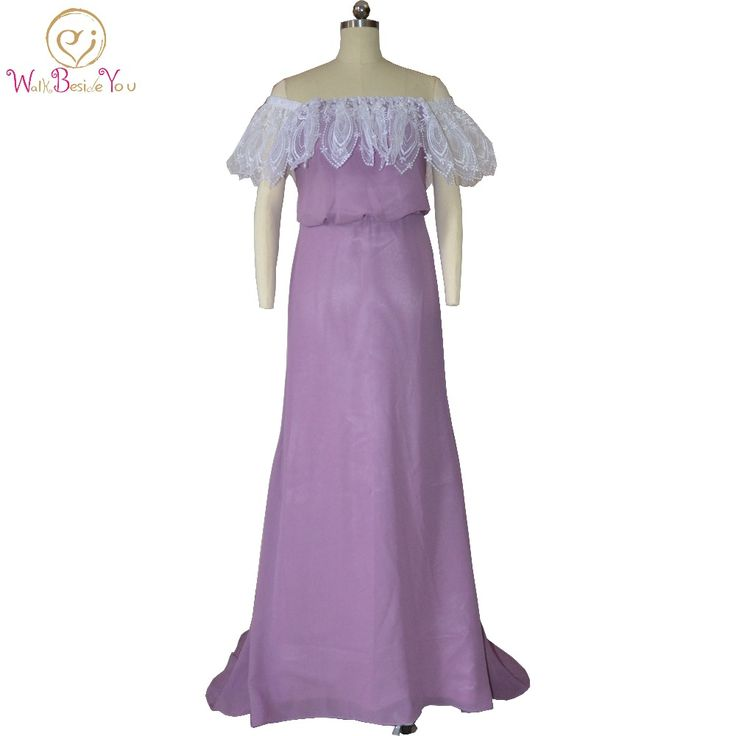 Walk Beside You Purple Bridesmaid Dresses Chiffon Long Off the Shoulder Gowns with Lace Formal Wedding Guest Dresses #Affiliate