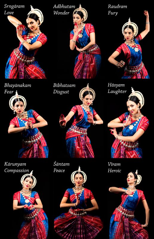 The Nava Rasa, The Nine Emotions of Indian Classical Dance, by Odissi Dancer AuroTejas Hemsell, Shakti Dance School, Photography by Randy Poe