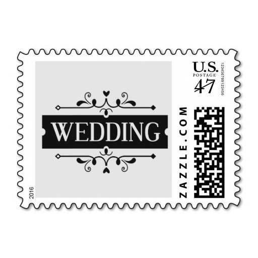 Elegant Wedding Postage Stamp