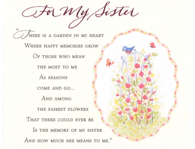happy birthday in memory of sister | Happy Birthday Sister Poems Images & Pictures - Becuo