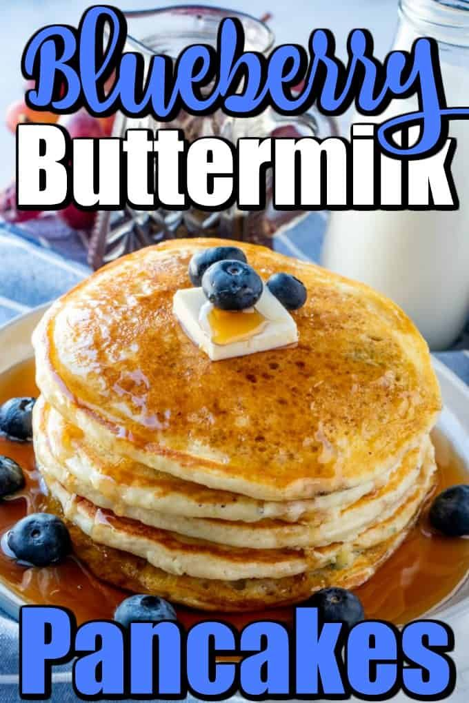 Blueberry Buttermilk Pancakes In 2020 Blueberry Buttermilk Pancakes Pancake Recipe Buttermilk Buttermilk Pancakes