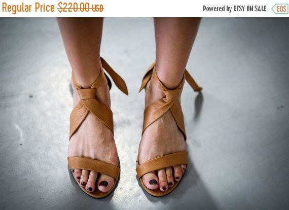 SALE Leather Sandals, Camel Heels Sandals, Handmade Sandals, Camel Summer Shoes, Women Shoes, Strappy Sandals, T-strap Sandals, Isabell by abramey on Etsy https://www.etsy.com/listing/226400257/sale-leather-sandals-camel-heels-sandals