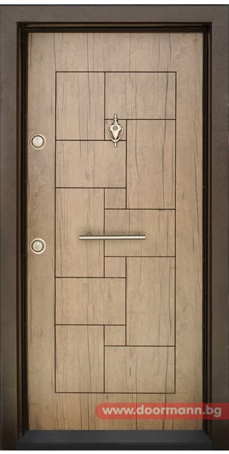 Блиндирана входна врата - Код T100, Цвят Антик