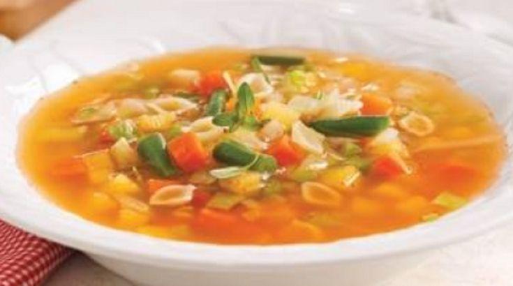 Recette : Soupe aux légumes et aux coquilles.