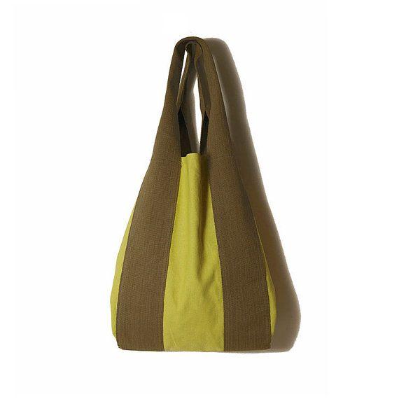 #Tote_canvas. #Lime_bag. #Tote_green. Bags by ElenaVandelliBags on Etsy
