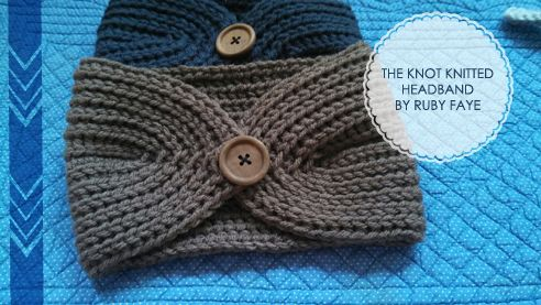 Free Headband Knitting Patterns With Button : 17 Best ideas about Knit Headband Pattern on Pinterest Knitted headband pat...