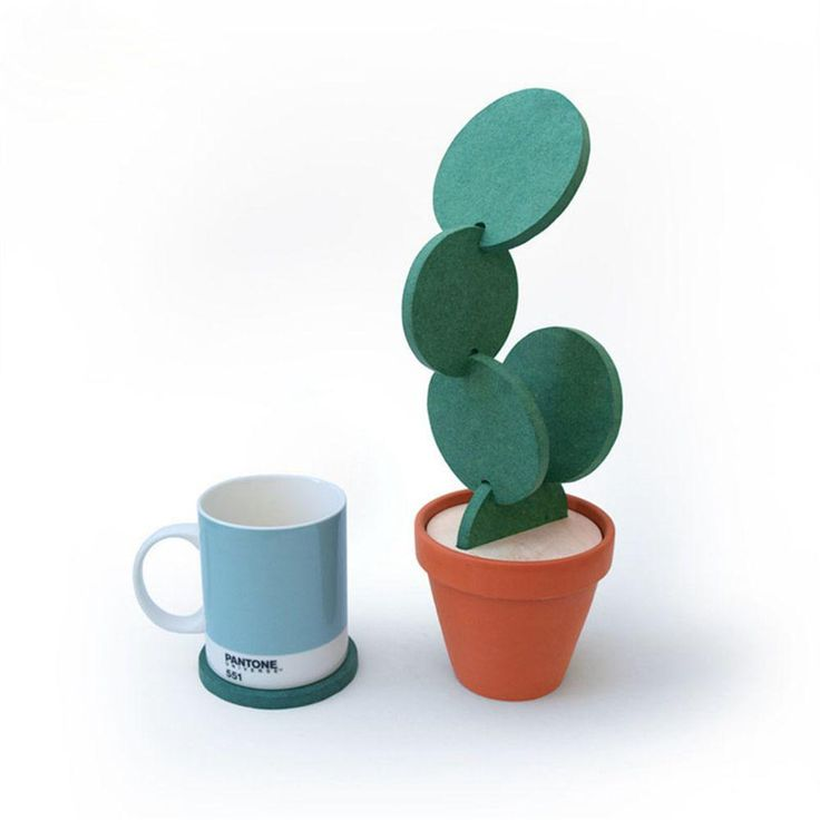 Heat Insulation Nonslip Pad Cup Mat Cactus Potted Coasters $11.89