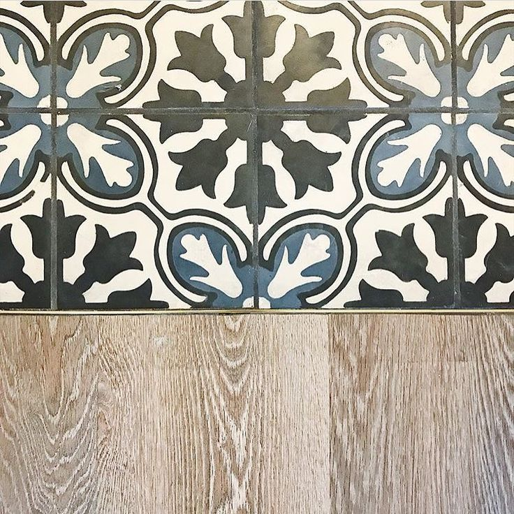 "352 Likes, 3 Comments - @tiletuesday on Instagram: ""#smoothtransition 👏#pattern #tile to wood with a touch of #brass by Schluter👏 seen via…"""