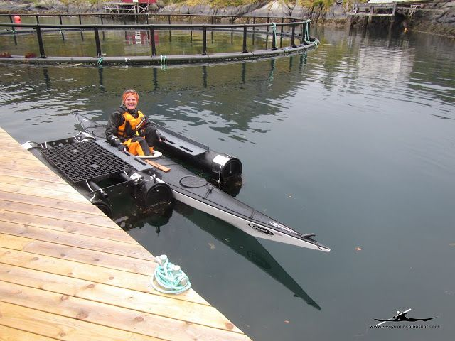 """A pier with a """"kayak -dock"""" How cool is that!"""