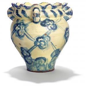 Thorvald Bindesböll - Art Nouveau Vase Of Earthenware Modeled With Wavy Rim