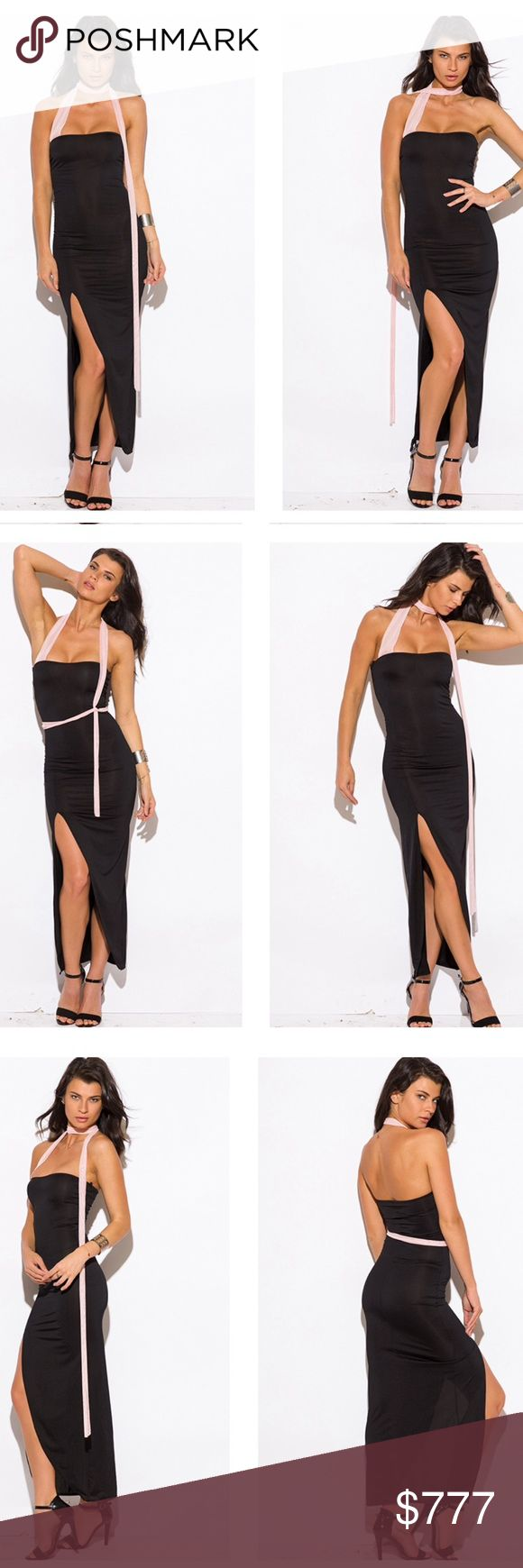 Black dress yellow sash - Coming Soon 2be Notified Strapless Party Dress Beautiful Black Maxi Dress With A