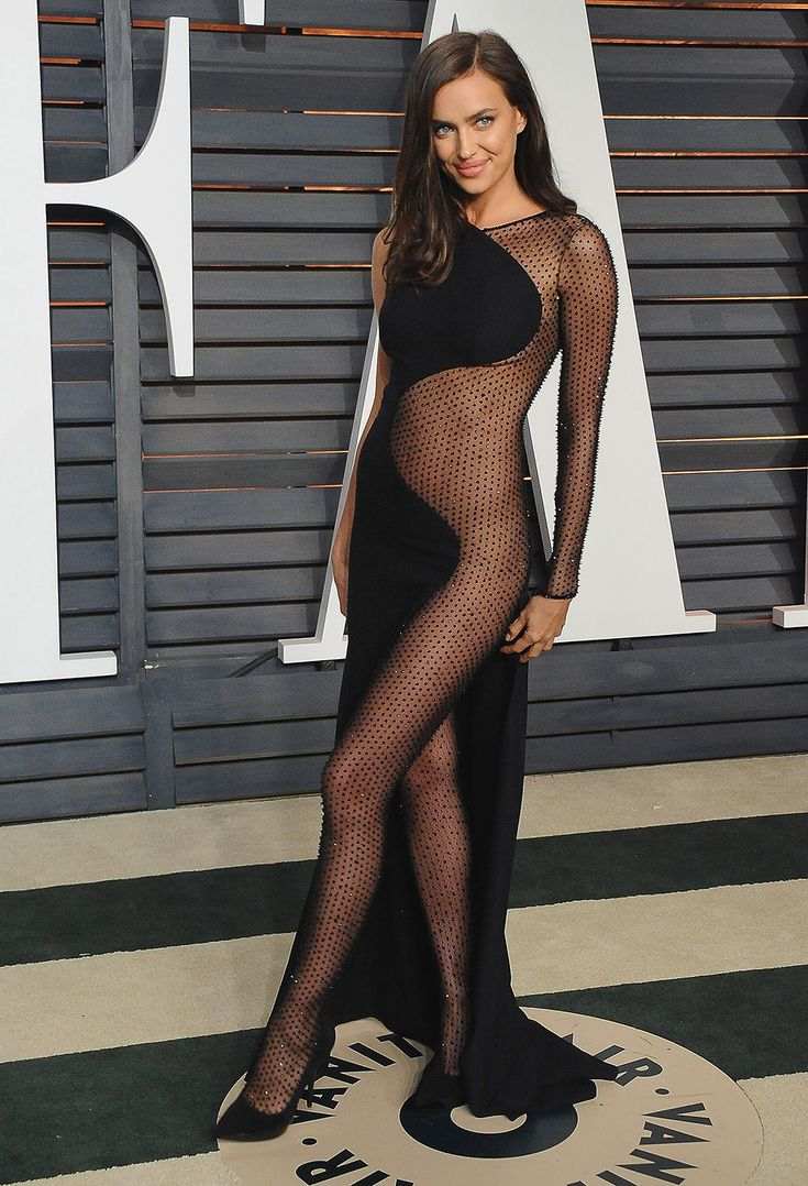 STYLECASTER | 35 Naked Dresses You Need in Your Closet | Black Curved Sheer Dress