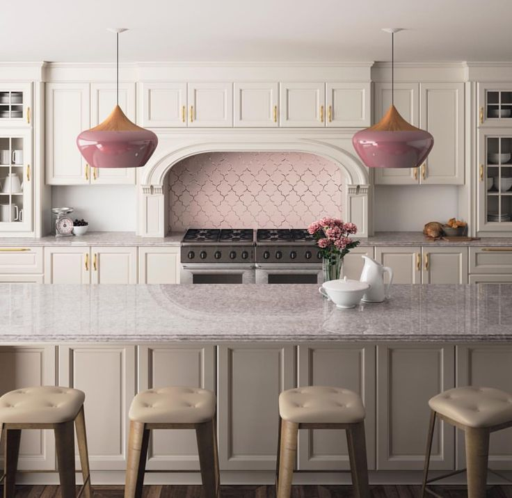 Silestone Ocean Jasper Beautiful Kitchen Pendants