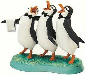 "Mary Poppins - Trio Penguin - ""Anything for You, Mary Poppins"" Retired Edition 8/02 $145"