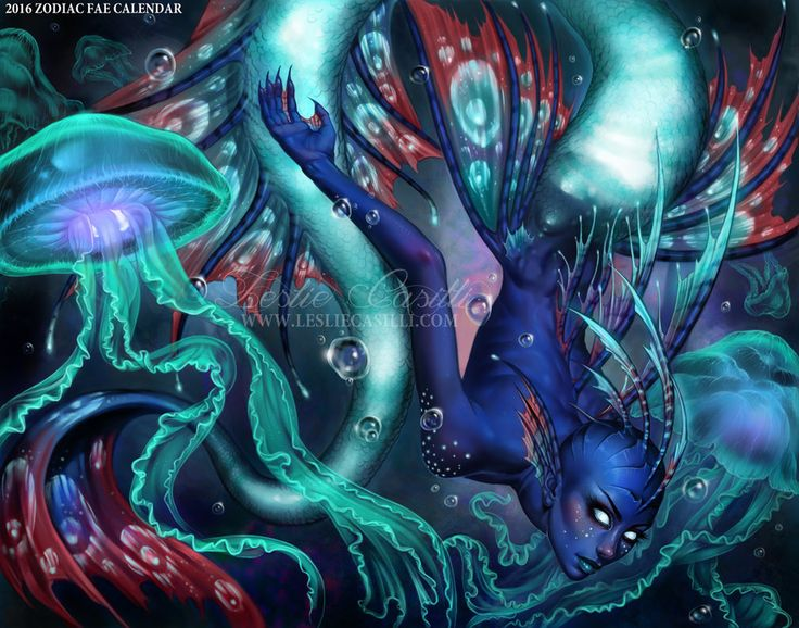 Pisces - 2016 Fae Zodiac Calendar by Enchantress-LeLe on DeviantArt