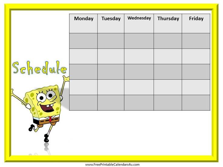 14 best Weekly Calendar for Boys images – Kids Behavior Chart Template