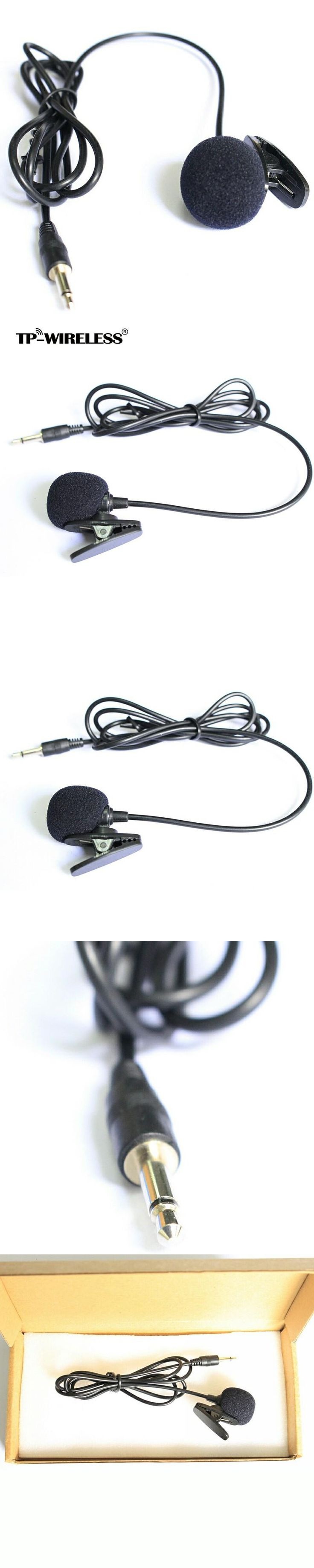 """Top Quality Cardioid Lapel Tie Clip-on Lavalier Condenser Microphone 1/8""""(3.5mm) Plug"""