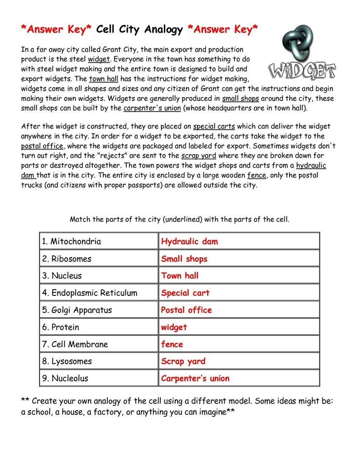 Cell City Analogy Worksheet Answers Printable Worksheets Are A Valuable School Room Tool They No Longer In Simple T In 2021 Cell City Analogy Cell City Cell Analogy Analogies worksheet 7th grade