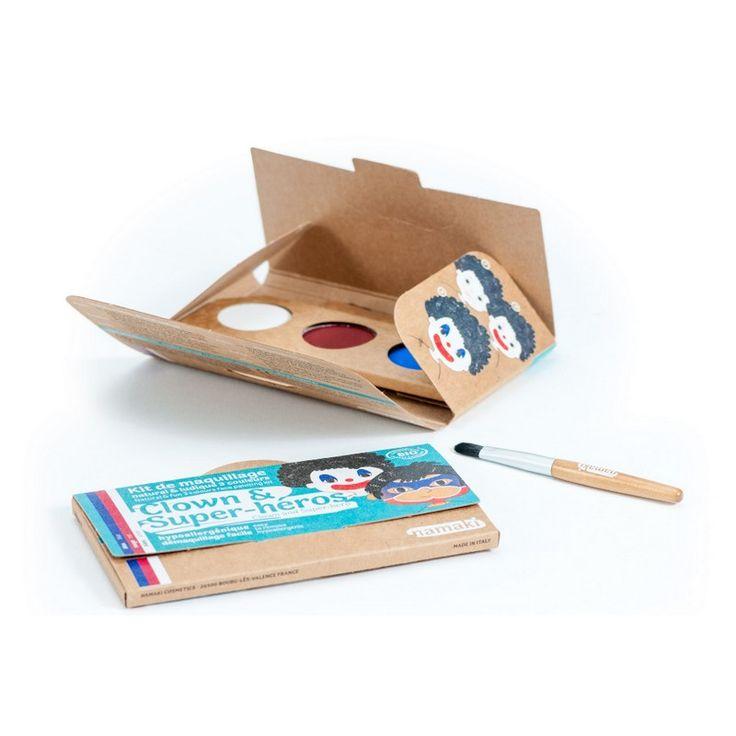 Kit Maquillage Enfant 3 couleurs Clown & Super-héros