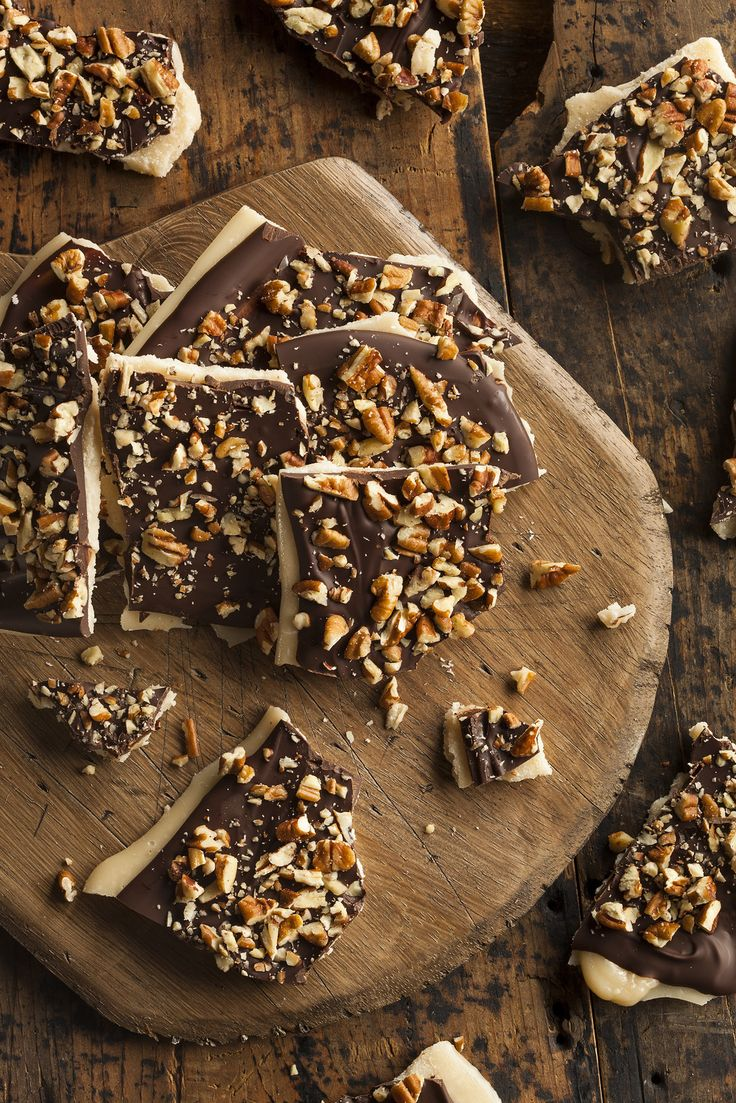 The best dang toffee you'll find anywhere. Made with all natural ingredients and draped with a layer of 72% Swiss dark chocolate, this toffee is heavenly. We finish it off with a sprinkling of roasted
