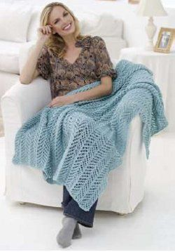 Arrowhead Lace Knit Throw Lace, Knits and Knitting Patterns