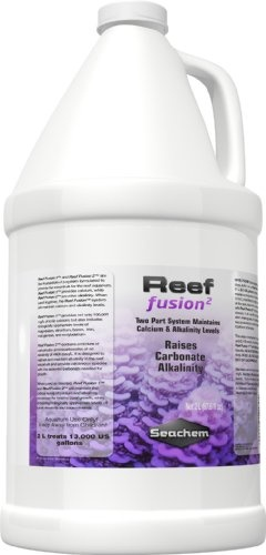 $31.58-$56.25 Reef Fusion, 2 4 L / 1 fl. gal. - Reef Fusion 1 and Reef Fusion 2 are the foundation of a system formulated to provide the essentials for the reef aquarium. Reef Fusion 1 provides calcium, while Reef Fusion 2 provides alkalinity. When used together, the Reef Fusion  system will maintain calcium and alkalinity levels. Reef Fusion 1 provides not only 100,000 mg/L of ionic calcium, but ...