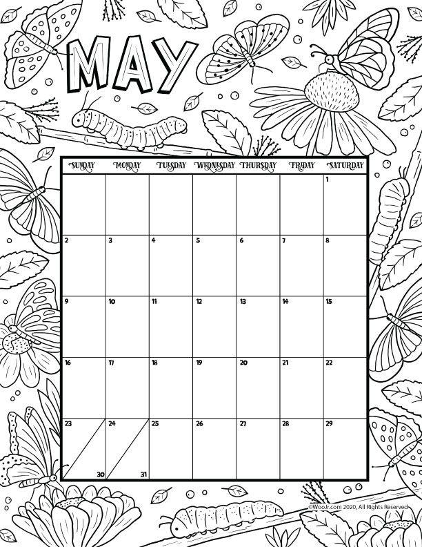 May 2021 Printable Calendar Page | Woo! Jr. Kids ...