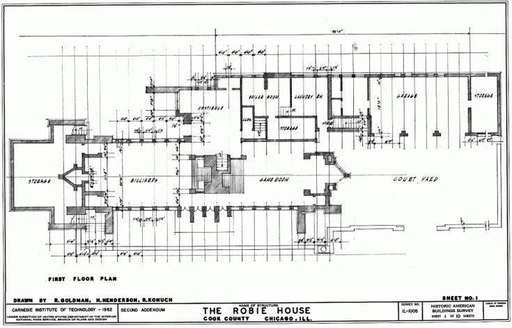 Robie House Floor 800 513 Frank Lloyd Wright