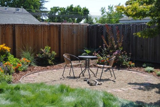 Gravel patio; simple and could still be cute