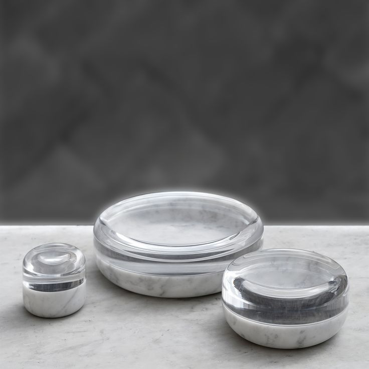 This Collection Of Jewelry Boxes In Bianco Carrara Marble And Clear  Plexiglas Recall The Time When The Earth Was Covered In Glaciers And Ice.