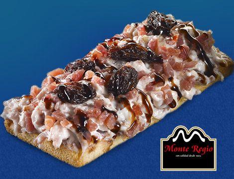 Especial cocina italiana: Tramezzini con crema de queso, virutas de jamón ibérico #MonteRegio y pasas ¡qué hambre!